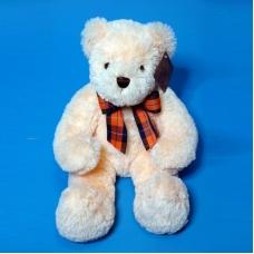 10A0254(24) медведь мягкий с бтом персиковый 27*12*40см