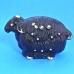 """HD-213221 (12) 24*10*15см. Статуэтка """"Овца"""" черная с позолотой, фарфор"""