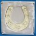 HG-15100 (48) 9*0,5*10см. Подкова серебряная с бабочками, подвесная