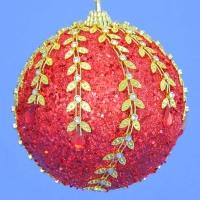 HT-01953 (30) d-10см. Набор из 6 красных шаров