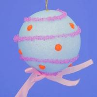 HT-02036(48) d-8см. Набор из 6 голубых шаров