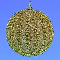 HT-04004 (30) d-10см. Набор из 6-ти золотых шаров