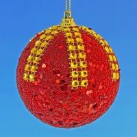 HT-04009 (48) d-8см. Набор из 6-ти красных шаров