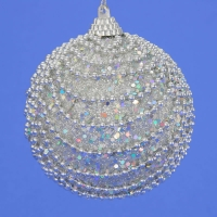 HT-07686 (48) d-10см. Набор из 6 серебряных шаров