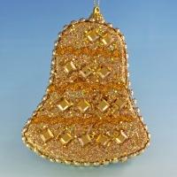 HT-08011 (48) 10*2.5*12см. Набор из 6 золотистых колокольчиков