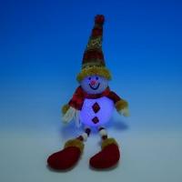 HY-010396 (18) 10*10*35см. Сидячий снеговик с LD подсветкой