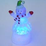 K9810013 (144) 5*4*9см Набор из 24шт санта, снеговики и ангел со светодиодами 6см