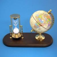 MC-11412 (12) Настольный набор: глобус, песочные часы 24*10,5*14см