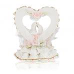 MR-38355 (12)  15*13*20см. Сердце с голубями, из полистоуна