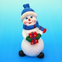 MY-15051 (48) 7*6*12см. Снеговик с подарками, полистоун