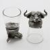 R-50048 (20) d=4.5см h=8.5см Набор из 2-х стопок-перевертышей с буйволом (50мл/стопка)
