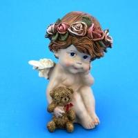 SC-87016 (36) 9*8*13см  Ангел с мишкой