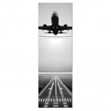 SH-17074 (3) Модульная картина вертикальная из трех частей 60*60/180*60*2,5см