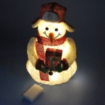 ST-0830 (12) 22*15*40см. Снеговик с подарком