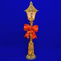 ST-4980 (1) 35*35*150см. Золотой фонарь с бантом