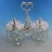 ST-4997EY/SL (8) 20*10*18см Набор для варенья с розами на ручке, посеребренный