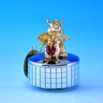 ST-DRAGON2-M4 (48)5*5*6см Музыкальная шкатулка с позолоченным драконом и красным сердцем