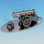 ST-TC4/BSC (48) 14,5*6*5,5см Царь пушка хромированная с 3 прозрачными хрусталиками на подставке