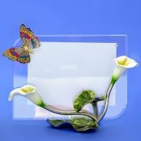 55-6899С (8)  22*10*15см (10*15) Фоторамка с бабочкой и каллами в подарочной упаковке