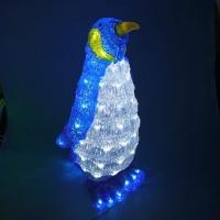 WE-81360 (4) 29*29*54см. Акриловый Пингвин, 80 лампочек, электричекий провод 5 метров.