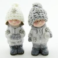 Q-25816 (27наб.) 6*5*13см. Набор из 4-х детей в зимней одежде, 2 вида