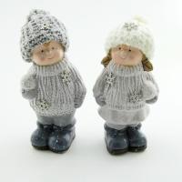 Q-25817 (36наб.) 6*6*17см. Набор из 2-х детей в зимней одежде, 2 вида