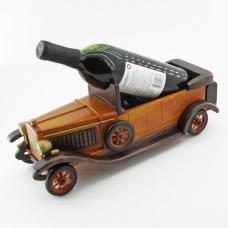 KT-45101 (12)  15*38*16см Подставка для вина в виде ретромашины