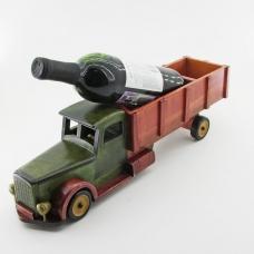 KT-45103 (15)  12*47*14см Подставка для вина в виде грузовика