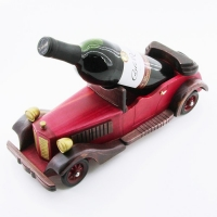 KT-45104 (12)  14*40*15см Подставка для вина в виде ретромашины
