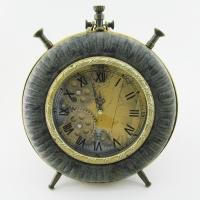 KY-601 (10) 26*32*7см Часы в стиле Лофт,в виде большого будильника, кожзам.