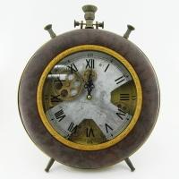 KY-602 (6) 32*41*7см Часы в стиле Лофт,в виде большого будильника, кожзам.