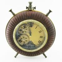 KY-603 (10) 26*32*7см Часы в стиле Лофт,в виде большого будильника, кожзам.
