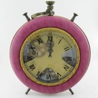 KY-605 (6) 32*41*7см Часы в стиле Лофт,в виде большого будильника, кожзам.