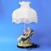 QP-80216L (4) d=36см, h=65см Лампа с фарфоровой статуэткой