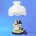 QP-80217L (4) d=36см, h=65см Лампа с фарфоровой статуэткой