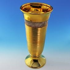 YC-70501 (6) 16*16*38см Керамическая ваза золотого цвета