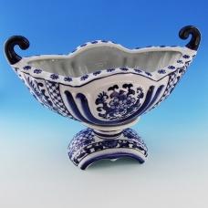 FY-50614 (4) 32*18*22см Фарфоровая ваза белая с синим орнаментом
