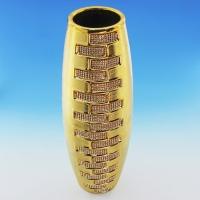 YC-70513 (8) 13,5*13,5*38см Керамическая ваза золотого цвета