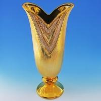 YC-70517 (6) 18*12*39,5см Керамическая ваза золотого цвета