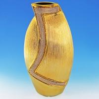 YC-70518 (6) 20*9,5*40см Керамическая ваза золотого цвета