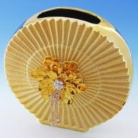 YC-70526 (6) 25,5*11,5*25,5см Керамическая ваза золотого цвета