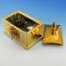 YC-70527 (12) 19*13,5*19,5см Керамическая шкатулка золотого цвета