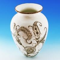 NI-01119 (6) 20*20*29см Керамическая ваза для цветов белая с