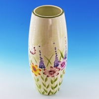 NI-01123 (12) 13*13*30см  Керамическая ваза для цветов белая с цветами