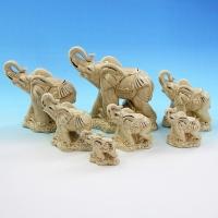 GE-57047 (16наб) 15*6*13,5см. Набор из 7 слонов