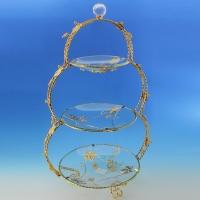 UA-3124/PG (6) Менажница трехуровневая из стекла и металла 38*29,5*63см
